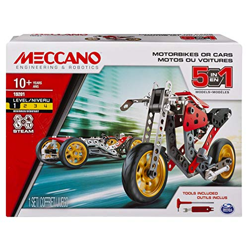 MECCANO MEC MDL 6053371 St Fighter Bike CN UPCX GML, Multicolor