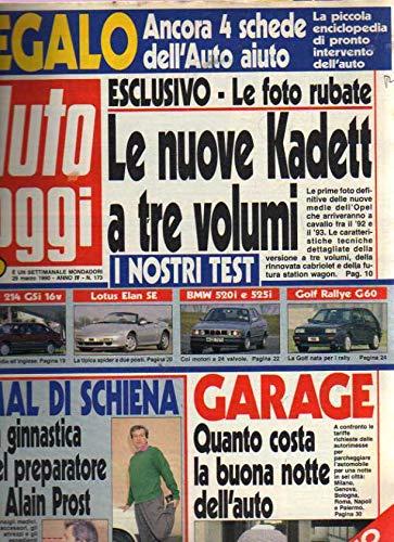 Auto Oggi 173 del Marzo 1990 Lotus Elan SE, Bmw 520i