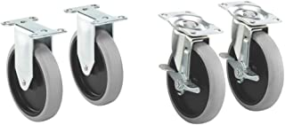 Rubbermaid Commercial Products 1997371 Heavy Duty Adaptable Utility Cart Replacement Casters, 5