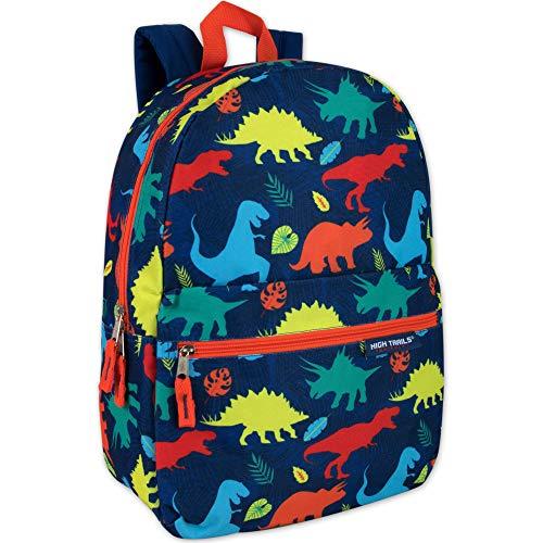 Trail maker gedruckt Jungen 17 Zoll Rucksack mit Bleistift-Beutel für Schule, Reisen, wandern, Camping (Dino-Party)