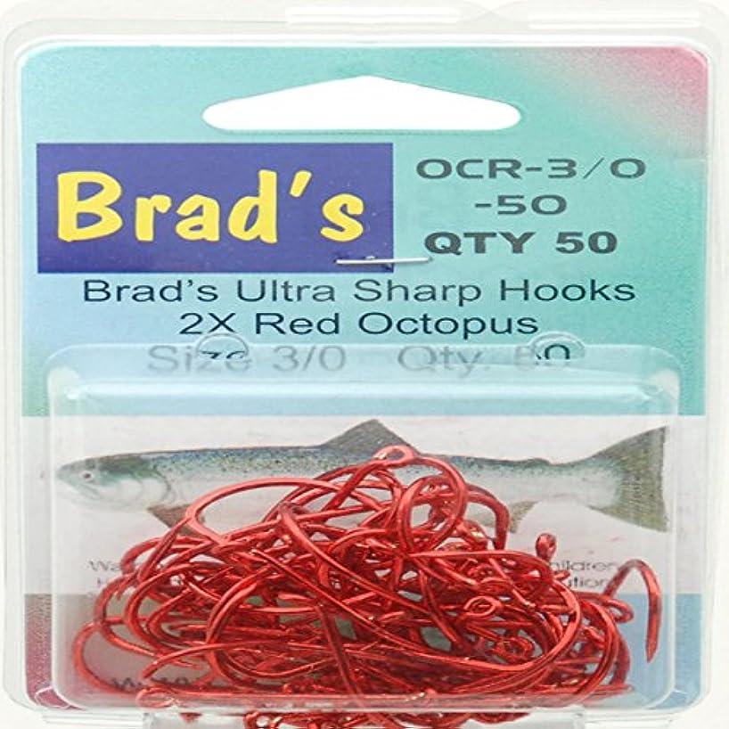 Brad's Octopus Hooks Black & Red Size 4-5/0 50pk