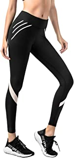 KSUA Womens Yoga Pants High Waist Yoga Leggings 4 Way Stretch Workout Running Leggings
