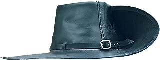 Period Clothing - Leather Cavalier Hat - Large (Left Brim Up) - Black