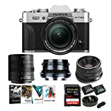 Fujifilm X-T30 Mirrorless Camera with 18-55 Lens + 7Artisans 25mm f/1.8 , 35mm f/1.2, 55mm f/1.4 Prime Lens Kit with Essential Starter Bundle (7 Items)