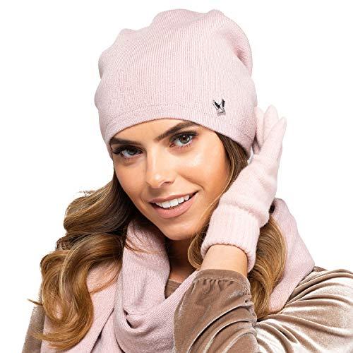 Kamea Damen Mütze Kopfbedeckung Herbst Winter Vigo, Pink,Uni