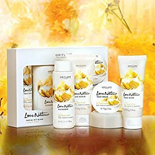 Oriflame Love Nature Facial kit Glow with Milk, Honey and Turmeric All Skin Types