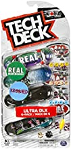 TECH DECK Ultra DLX 4 Pack 96mm Fingerboard 2020 Crossover - Real/Krooked