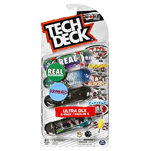 Tech-Deck Ultra DLX Fingerboard 4 Pack 2019 New Real Krooked
