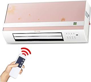Radiador eléctrico Calentador de convección de 2kW con termostato, Elemento PTC, Control Remoto y Temporizador Rosa