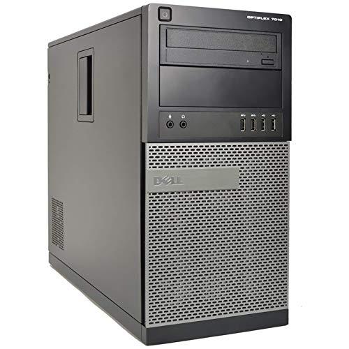 PC Computer Tower Dell Optiplex 7010, Intel Core i5-3470, Ram 8GB DDR3, SSD 240GB, Lettore DVD-ROM, VGA Display Port, USB 3.0, Windows 10 Pro 64 Bit (Ricondizionato)