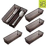 Best Flatware Silverware Kitchen Drawers - Smart Design Steel Metal Mesh Drawer Organizer w/Interlocking Review