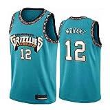 HEBZ NBA De los Hombres Camiseta de Baloncesto Grizzlies # 12 Ja Morant Malla Jerseys cosidos Cool Aptitud Swingman,M(175cm/65~75kg)