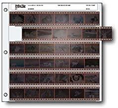 Archival 35mm Size Negative Pages Holds Six Strips of Six Frames, Pack of 50