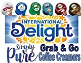 Grab and Go Coffee Creamer, Single Serve Non-Dairy.International Delight, 100 Count Variety Pack. Sealed and Shrink-Wrapped To Protect Creamers from Leaking During Shipping.