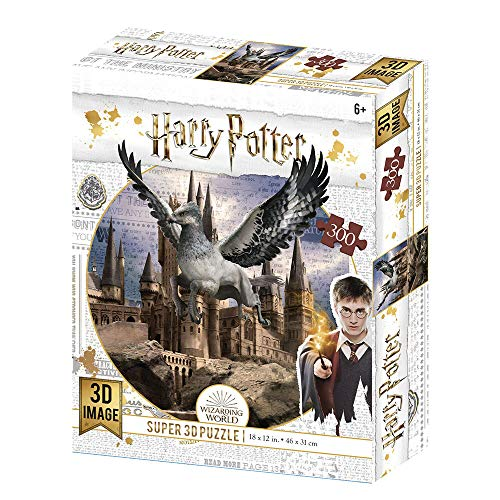 Prime 3D- Redstring - Puzzle lenticular Harry Potter Buckbeak 300 Piezas (Efecto 3D), Multicolor