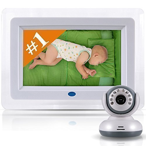 "Best Video Baby Monitor -7"" screen across and total unit is 10.5"" - Premium Version - Designer Style, Feature Rich Premium High End Digital Camera with Long Range Wireless / WiFi Signal"