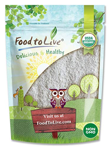Organic Dark Rye Flour by Food to Live (Whole Grain, Non-GMO, Stone Ground, Kosher, Raw, Vegan, Bulk, Great for Baking Bread, Product of the USA) — 4 Pounds