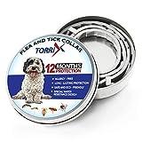 TORRIX Flea and Tick Collar for Dog – 12-Month Flea Medicine – Adjustable, Safe And Water Resistant Flea Prevention Collar