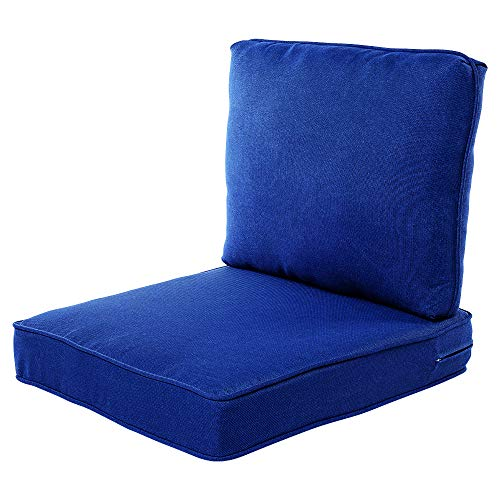 Quality Outdoor Living 29-CB02SB All-Weather Deep Seating Chair Cushion, 23 x 26, Cobalt
