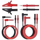 Proster 8pcs Multimeter Test Leads Kit Professional Clamp Meter Lead Automotive Multimeter Accessory Kit Includes Lead Extensions Test Probes Alligator Clips Mini Hooks