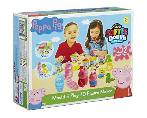 Kids Play Time Soft Dough Mould N Play 3D Figure Playset