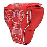 Akozon Estuche para la Camara Paquete de Bolsa de amortiguación a Prueba de Polvo Impermeable de Nylon Universal para cámara sin Espejo DSLR(Rojo)