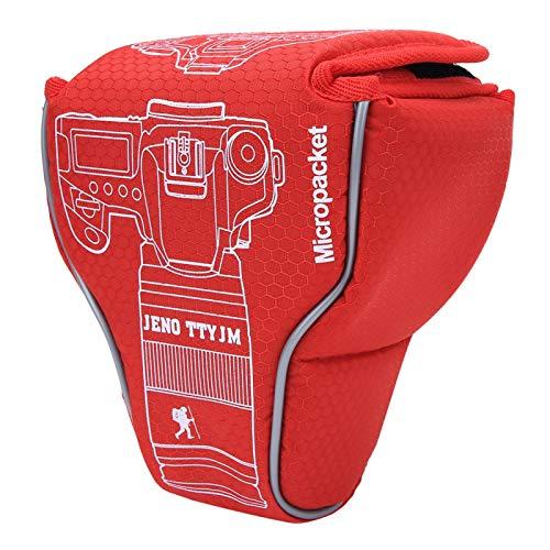 Socobeta, borsa per fotocamera in nylon per fotocamere DSLR SLR, custodia antipolvere per donne e uomini (rosso)