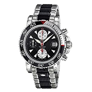 Montblanc Sport Chronograph Automatic Stainless Steel and Black Rubber Mens Watch 102359 image