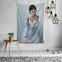 2021 工藤美桜(くどう みお、Mio Kudo) タペストリー ファッションの絶妙な印刷リビングルームの入り口寝室の背景壁の装飾カスタマイズされた壁掛け布 (152*102cm)