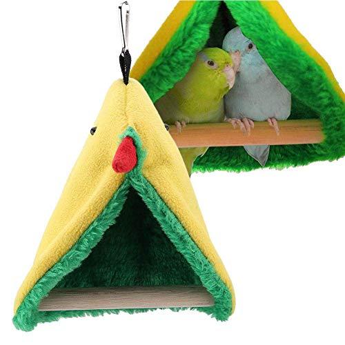 HEEPDD vogelpapegaai staande baars, papegaaien driehoek hangmat kooi opknoping pluche tent bed speelgoed voor vogels papegaaien kakatielen kleine Conures