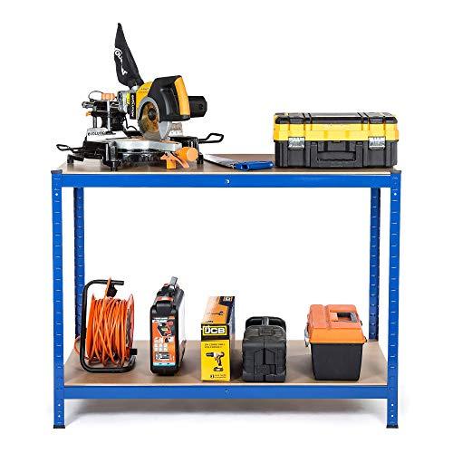 'Racking Solutions - Banco de trabajo cargas pesadas, casa, garaje, bricolaje, capacidad de carga total de 600kg (2 niveles 900mm Al x 1200mm An x 600mm Pr) + Envío...