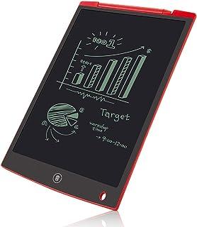 12インチLCDライティングタブレット、電子ライティング描画落書きボードタブレットデジタルEwriterパッドオフィスホームスクール手書きパッドメモノート,赤