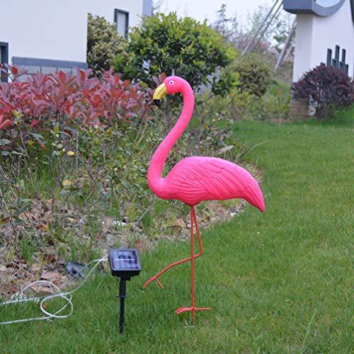 Osaladi - 1 luce solare per esterni, a prova di acqua, fenicottero solare, per giardino, paesaggio