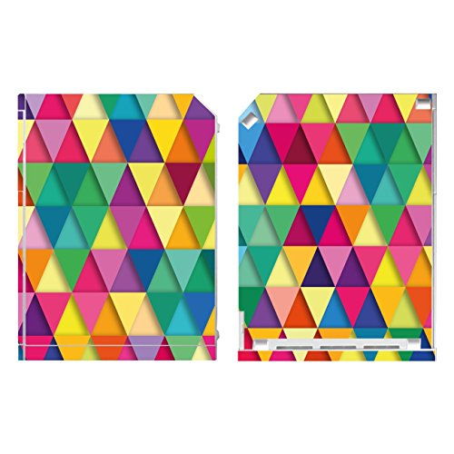 Disagu Design Skin für Nintendo Wii stehend Design Folie - Motiv Bunte Dreiecke 1
