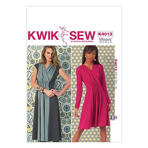 Kwik Naaipatronen K4013 Extra-Small/Small/Medium/Large/Extra-Large Misses Jurken, Multi Kleur