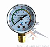 "This is a brand new air pressure gauge. This 0-200 PSI air pressure gauge features a 2"" face and 1/4"" NPT side mount. This gauge can be used to measure air, water, oil, gas, and anything else that is not corrosive to brass. This is a chrome steel gau..."