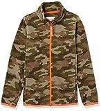 Amazon Essentials Polar Fleece Full-Zip Mock Jackets Chaqueta, Estampado de Camuflaje/Naranja, XS