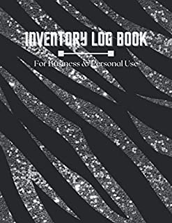 Simple Inventory Log Book For Small Business And Personal: Silver And Black Cover 120 Pages Simple Inventory Log Book For ...