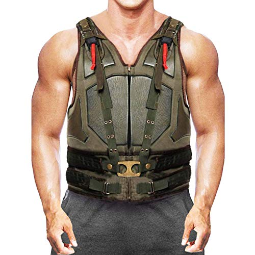 Knight Rises Hardy Military Cosplay Faux Leather Vest - Bane Green Vest