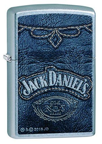 Zippo Zippo 60002092 PL Jack Daniels Feuerzeug, Messing, Edelstahloptik, 1 x 3,5 x 5,5 cm Edelstahloptik