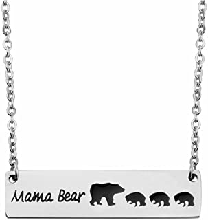 Sweet Family Mama and Baby Bear Necklace Bracelet Bangle Gift for Mothers