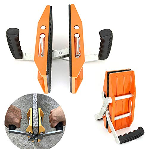 Carrying Clamp, TBVECHI Aluminum Double-handed Carry Clamp Stone Lifter Glass Lifting Carrying Clamp for Glass, Ceramic Plate 150kg Load-bearing