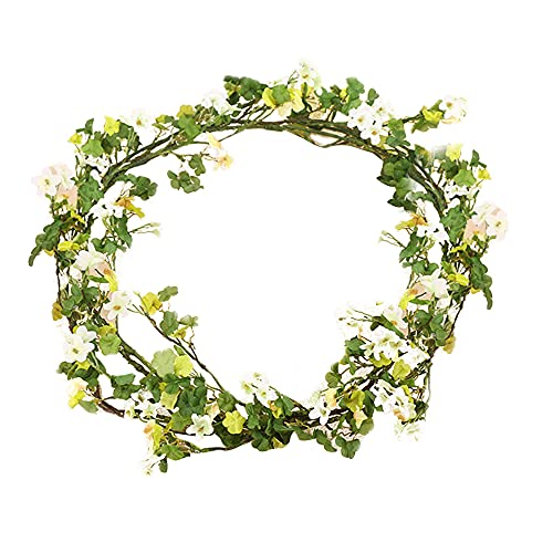 YILEEGOO 5.24Ft Artificial Vine Garland Plants with 70Pcs Flowers and 100Pcs Leaves Pendant Arts for Home Hotel Office Wedding Party Garden Craft Art Decor, Arch Arrangement Decoration