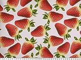 Zanderino ab 1m: Dekostoff, Digitaldruck, rote Erdbeeren,