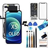 for iPhone Xs Screen Replacement OLED 5.8 inch [NOT LCD] Touch Screen Display Digitizer Repair Kit Assembly with Complete Repair Tools and Screen Protector