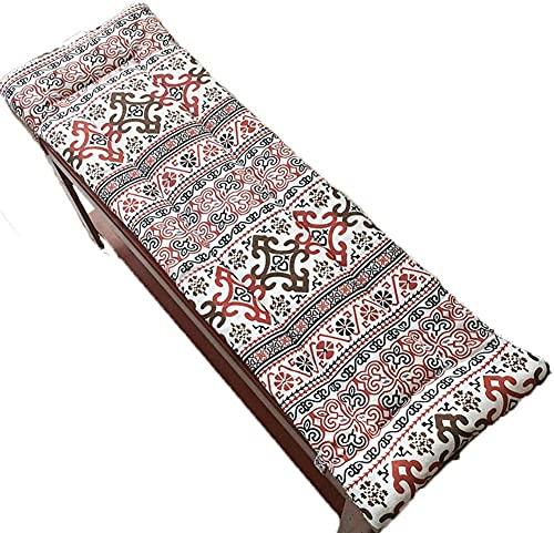 CHFQ Garden Long Bankkissen mit rutschfesten Krawatten Waschbare Patio-Schaukelmatte Pad Ersatzmatratze Reisesitzpolster Indoor Outdoor (kein Stuhl)