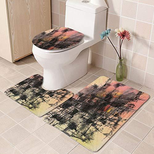 IRCATH Patrón Creativo Abstracto Floral Colorido con Cojines de baño de Calidad de Confort flexible-C10 Suave cálido Hermoso Antideslizante