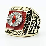 WSTYY 1983 Super Bowl Championship Ring Super Bowl Champion Ring Superbowl Rings Replica Creative Ring para Mujeres y Hombres,with Box,9
