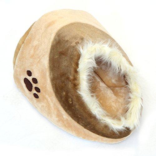 Pet Love LovePet Kuschelhöle Chou Chou, große Kuschelhöhle für Katzen und kleine Hunde,41 x 42 x 26 cm, Beige