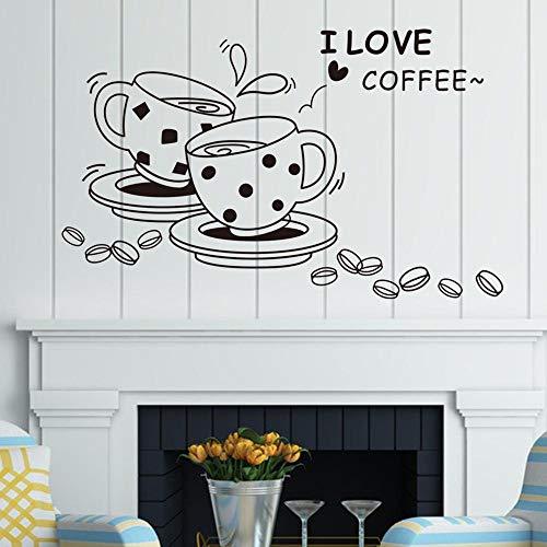 fancjj wandaufkleber abnehmbare schöne kaffeetasse wandtattoo y 73x46cm wandaufkleber Blumen küche Schmetterling kinderzimmer mädchen Punkte Spiegel